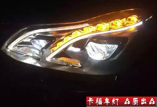 奔驰E260改原厂智能大灯改装