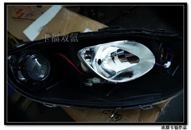 名爵MG6车灯改装