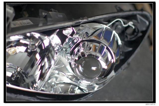 标志307车灯改装