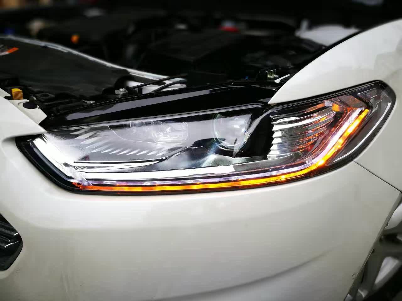 福特新蒙迪欧改流光溢彩大灯总成