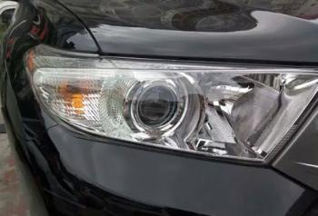 丰田汉兰达车灯改装