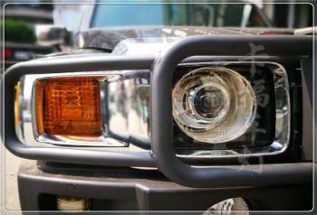 悍马H3改海拉5透镜氙气灯大灯总成