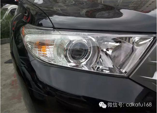 丰田汉兰达车灯改装 卡福车灯重庆店高清图片